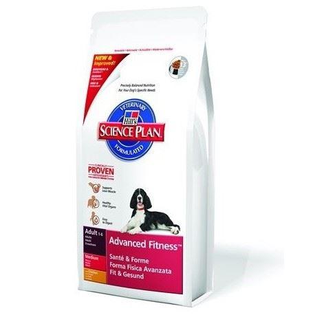 Корм Hills SP Advanced Fitness Medium Adult для собак средних пород с курицей 14,5 кг