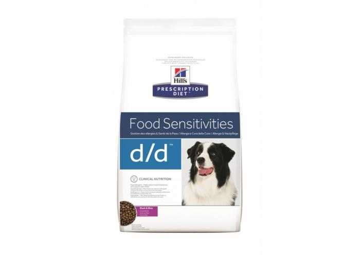 Корм Hills Food Sensitivities D/D для собак при лечении пищевой аллергии с уткой и рисом 12 кг