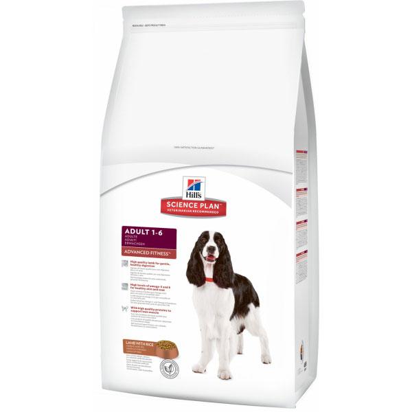 Корм Hills SP Advanced Fitness Adult для собак с ягненком и рисом 18 кг