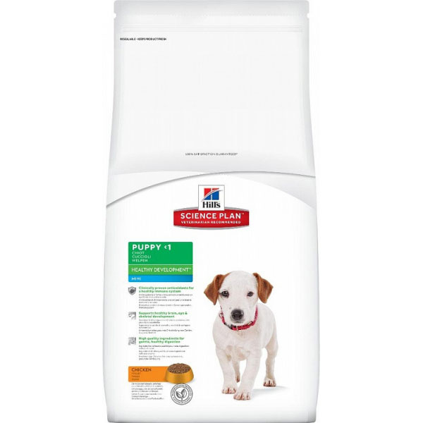 Корм Hills SP Healthy Development Mini Puppy для щенков мелких пород с курицей 7,5 кг