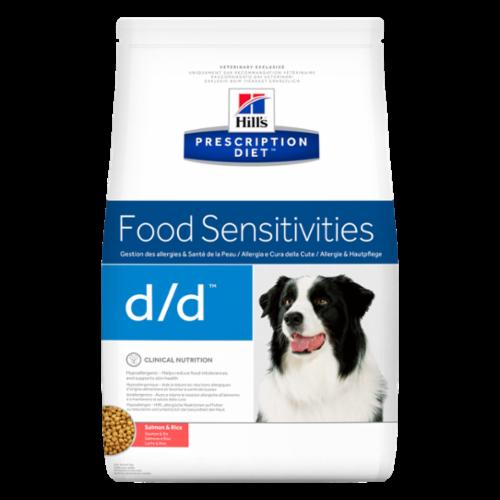 Корм Hills Food Sensitivities D/D для собак при лечении пищевой аллергии с лососем и рисом 12 кг
